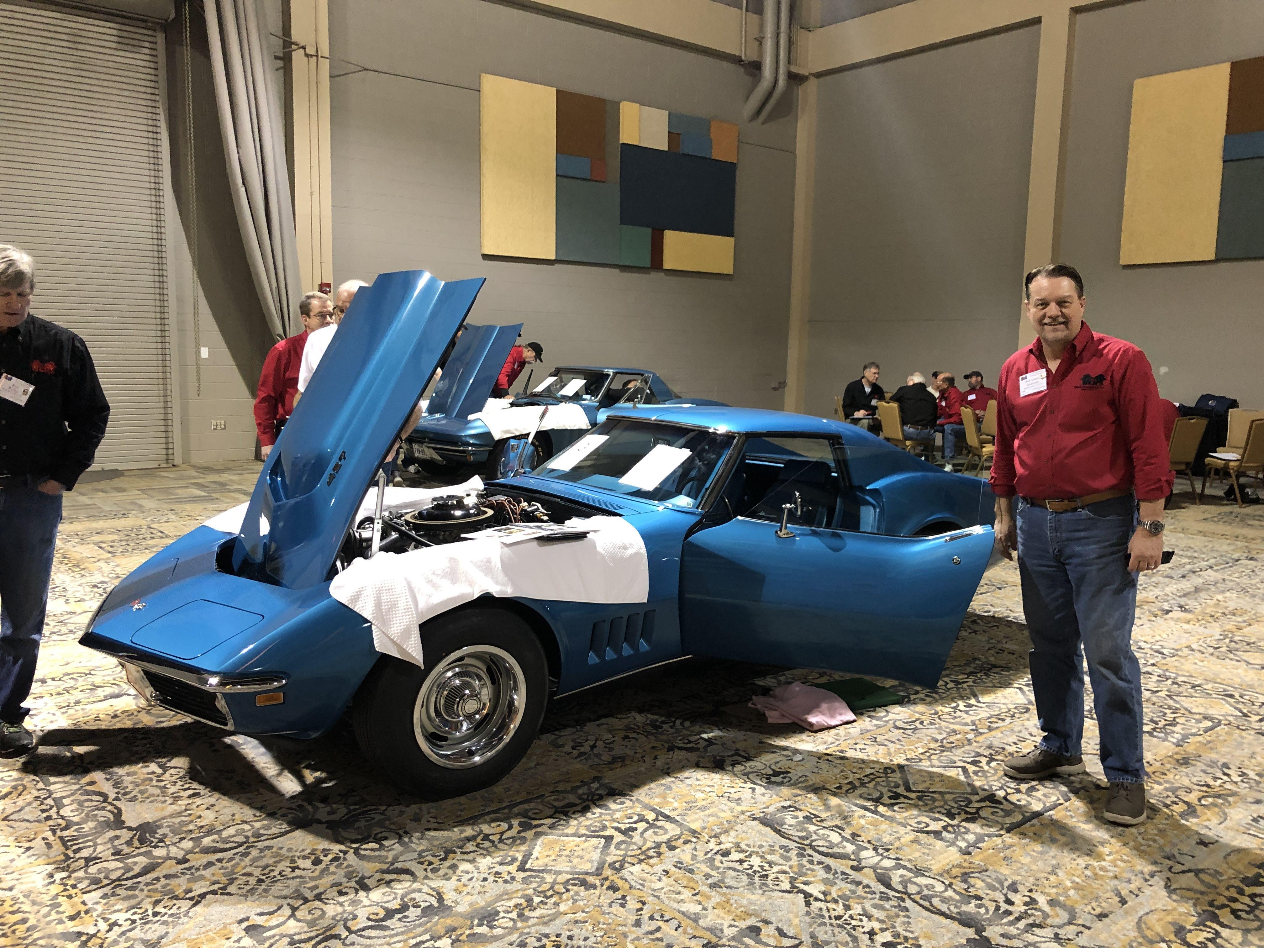 Bob Grauer by his dream car