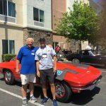 Wayne Yurtin (right) and his dad by Wayne's '63 Top Flight FI